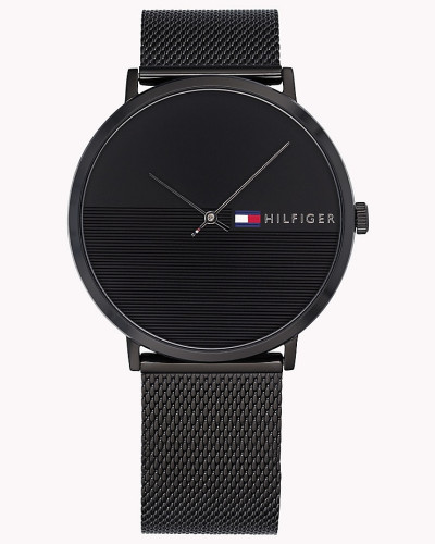 Minimalistische schwarze Armbanduhr
