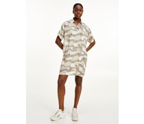 Tommy Icons Chiffon-Kleid im Polo-Stil