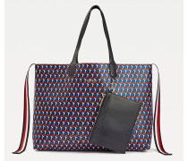 Iconic Tote-Bag mit TH-Monogramm-Print