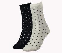 2er-pack Gemusterte Socken