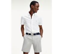 Slim Fit Leinen-Hemd in Stückfärbung