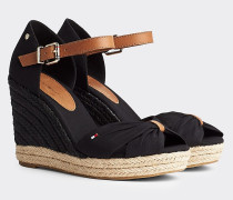 Peeptoe-Sandale mit Keilabsatz