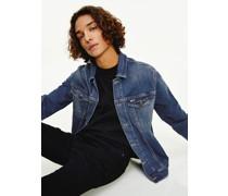 Stretch-Jeansjacke mit Fade-Effekt