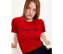 Rundhals-T-Shirt mit Signatur-Logo