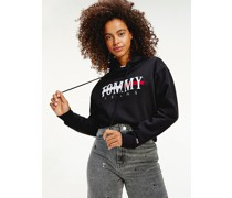 Relaxed Cropped Fit Hoodie mit Logo