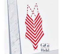 Gestreifter Badeanzug Von Gigi Hadid