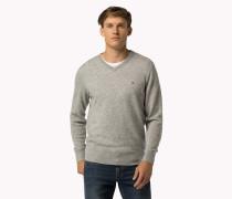Sweater Aus Wollgemisch Mit V-ausschnitt
