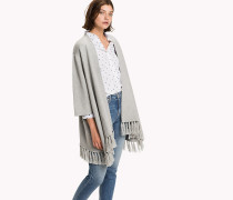Wickel-Cardigan aus Mohair-Mix