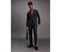 Slim Fit Anzug mit Fensterkaros