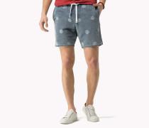 Bedruckte Shorts Aus Baumwoll-canvas