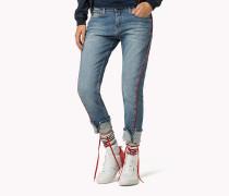 Gekürzte Jeans mit gezwirnten Nähten