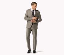 Figurnaher Anzug Aus Wolle Mit Karomuster