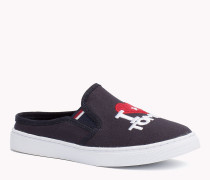 Slip-on Sneakers aus Gewebe