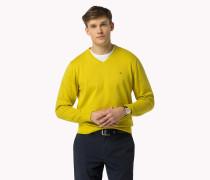 Pullover aus Luxury Baumwoll mit V-Ausschnitt