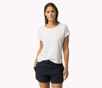 Rundhals-t-shirt Aus Baumwoll-mix