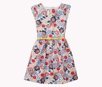 Popeline-kleid Mit Blumenmuster
