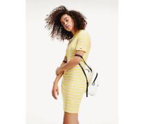 Mini-Kleid aus Viskose-Rippstrick