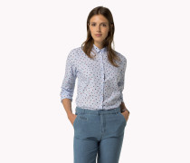 Tailliertes Baumwoll-hemd Mit Print