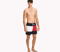 Flag Print Swim Shorts