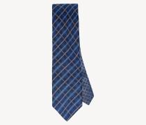 Seiden-Krawatte mit Rautenprint