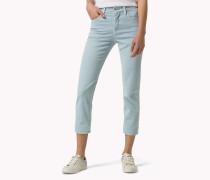 Gekürzte Jeans mit hohem Bund