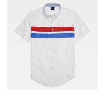 Adaptive Custom Fit Kurzarm-Hemd mit Streifen