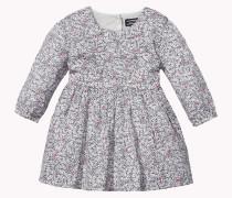 Baumwollkleid Mit Blumen-print