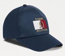 Cap mit Wappen- und Logo-Stickerei