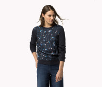 Bedrucktes Sweatshirt Aus Baumwoll-frottee