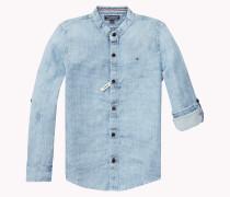 Regular Fit Piqué-hemd In Indigoblau