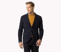 Taillierter Blazer Aus Baumwolle-woll-mix