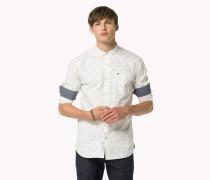 Bedrucktes Hemd Aus Stretch-baumwolle