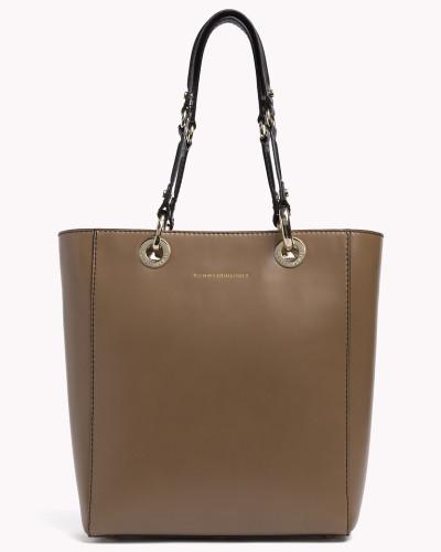 tommy hilfiger damen minimalistische tote bag aus leder. Black Bedroom Furniture Sets. Home Design Ideas
