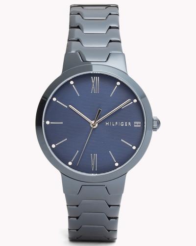 Avery Uhr aus blauem IP-Stahl