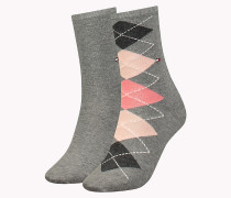 TH WOMEN TWISTED ARGYLE SOCK 2P