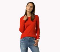Gestreifter Baumwoll-Pullover
