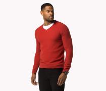 Bt Baumwoll-pullover Mit V-ausschnitt