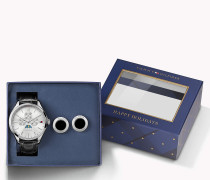 Geschenkset Mit Armbanduhr Und Manschettenknöpfen