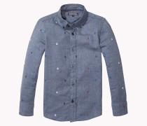 Besticktes Hemd Aus Baumwolle