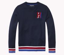 Baumwoll-sweater Mit V-ausschnitt