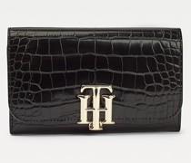 TH Lock Brieftasche mit Krokodil-Effekt