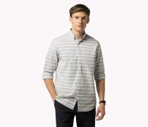 Tailliertes Popeline-Hemd mit Streifen