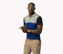 Slim Fit Poloshirt in Blockfarben