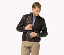 Taillierte Lederjacke
