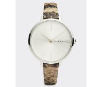 Zendaya Armbanduhr mit Schlangenprint