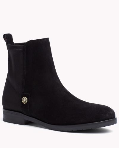 tommy hilfiger damen ankle boots im wildleder mix reduziert. Black Bedroom Furniture Sets. Home Design Ideas