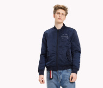 Regular Fit Satin-Bomberjacke