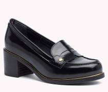 Leder-loafers Mit Absatz
