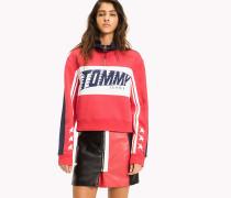 Fleece-Sweatshirt im Racing-Look