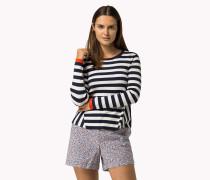 Ausgestellter Pullover Mit Streifen